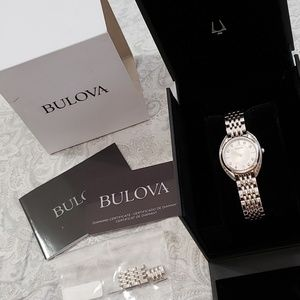 * NEW* Women's Bulova Diamond, Curve Style Watch